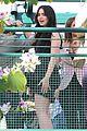 lily collins grove pink heels 03