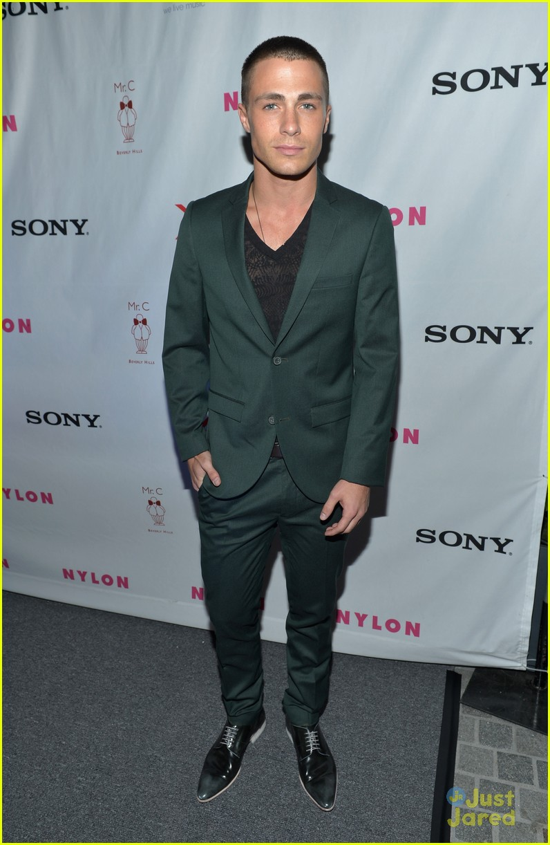 Full Sized Photo of lucy hale colton haynes nylon dinner 09 | Lucy