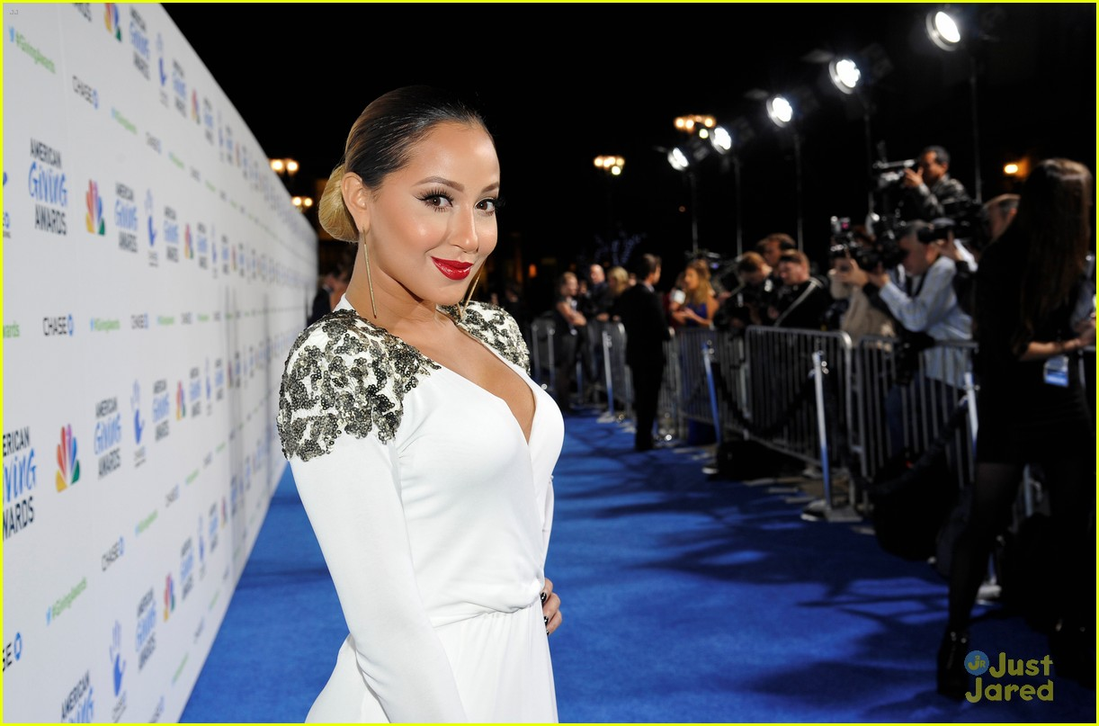 adrienne bailon giving awards xfactor viewing party 12