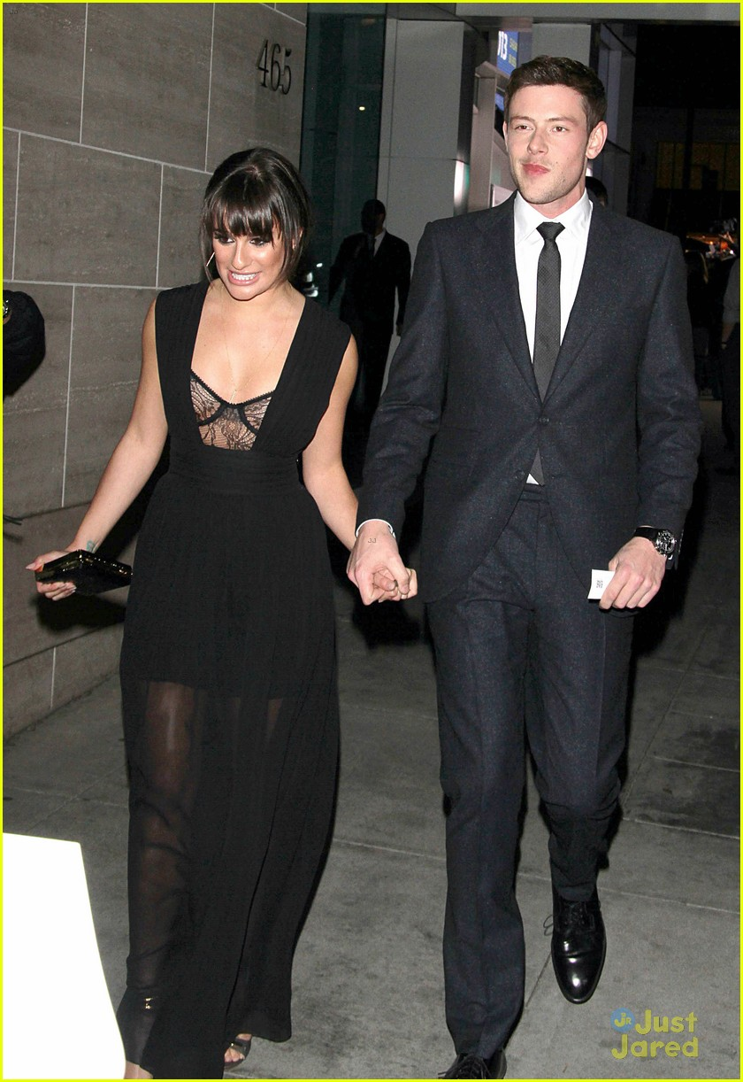 lea michele cory monteith inaugural paleyfest icon award pair 15