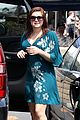 ariel winter blue dress farmers market 07