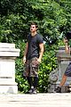 taylor lautner bike riding for tracers filming in nyc 16