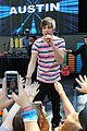 austin mahone ed sheeran bridgit mendler join nyc family day event 01