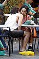 penn badgley zoe kravitz kisses in rome 01