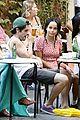 penn badgley zoe kravitz kisses in rome 20