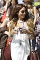 vanessa hudgens white dress sunday 20