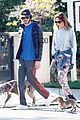 leighton meester adam brody dog walk 03
