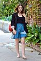lily collins lunch meeting 08