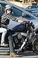 josh hutcherson motorcycle spin with mystery gal 01