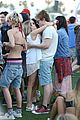emma roberts and evan peters show some pda at coachella08