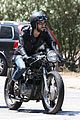 joe jonas revs up his engine for a motorcycle ride in la05