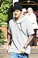 justin bieber attracts a mob of fans while out shopping 06