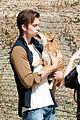 pierson fode shirtless kiss dog photo shoot 04