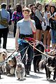 daniel radcliffe dog walker trainwreck nyc set 01