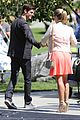 grant gustin emily bett rickards flash arrow crossover filming 01