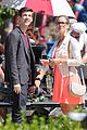 grant gustin emily bett rickards flash arrow crossover filming 10