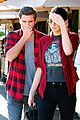 kendall jenner scott disick match in red flannel shirts 07