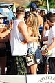nina agdal gets miami excited for a spin class after supporting christy turlington 03