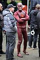 grant gustin gives out bunny ears on the flash set 11