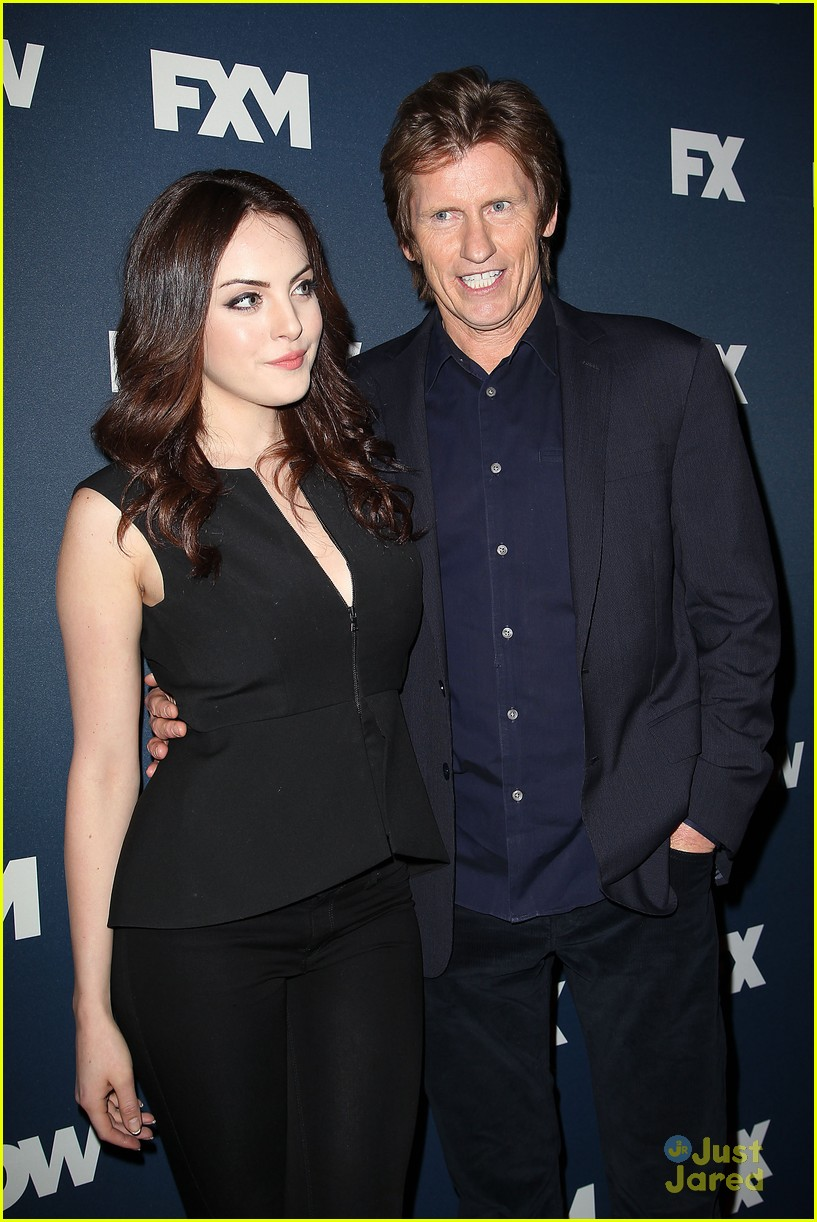elizabeth gillies hits fx s upfront bowling party with the