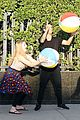 willow shields mark ballas beach balls hula hoops dwts 08