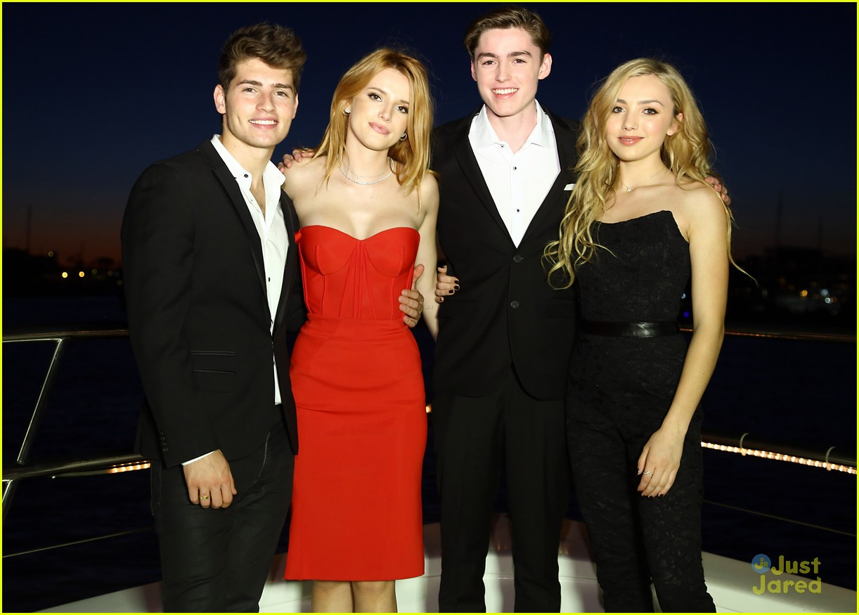 Bella Thorne 18th Bday Party Friends Red Dress 31