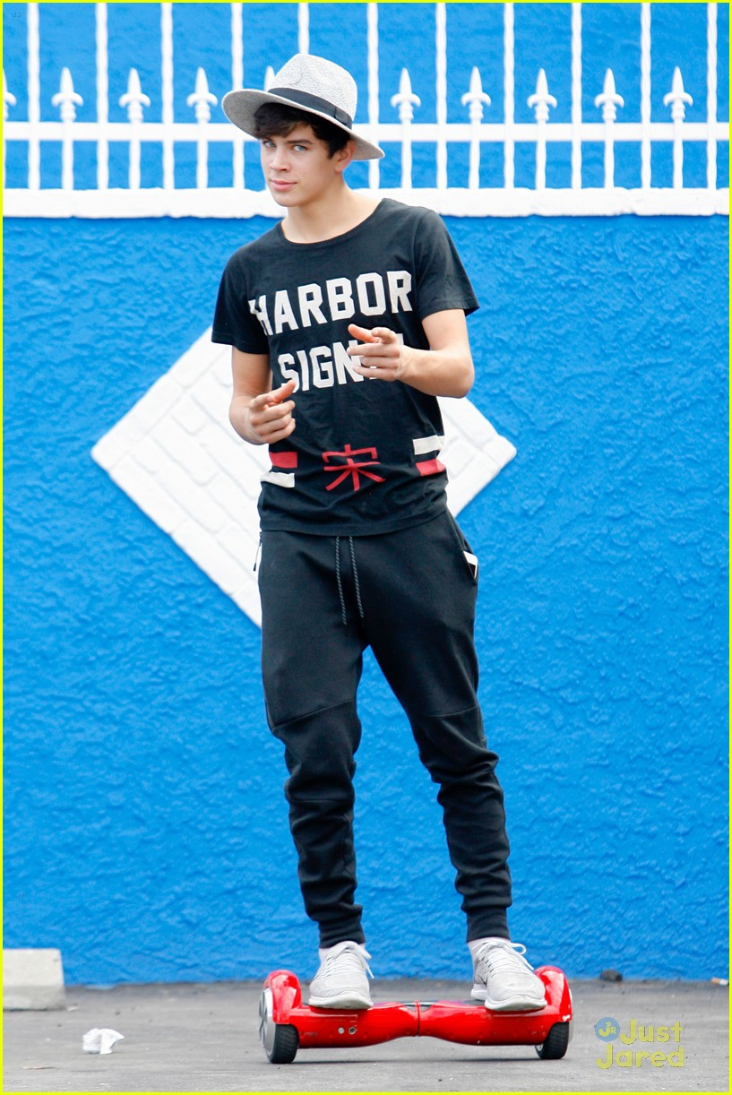 hayes grier carlos pena hoverboard fun dwts practice 07