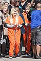 scream queens arrest orange suits lea michele eye patch 02