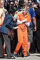 scream queens arrest orange suits lea michele eye patch 10