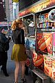 bella thorne eats hot dog nyc 18