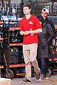 ansel elgort pizza delivery guy new movie atl 08