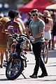 zac efron films baywatch on motorcycle 42