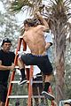 zac efron goes shirtless for tarzan like baywatch moment 27