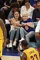 miley cyrus knicks game brandi courtside 13