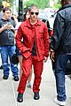nick jonas red suit aol build appearance 02