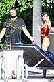 hailey baldwin wears just married swimsuit on fourth of july 13