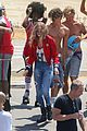 gigi hadid bares her long legs in a one piece swimsuit 30