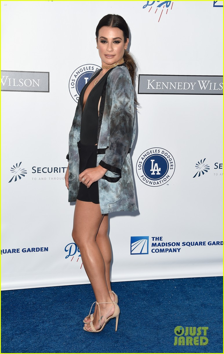 lea michele taylor lautner chace crawford dodgers fdn gala 09
