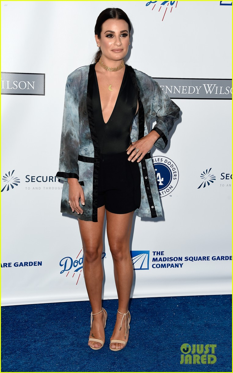 lea michele taylor lautner chace crawford dodgers fdn gala 10