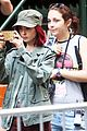 lily collins nose ring okja set filming 05
