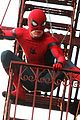 tom holland performs his own spider man stunts on nyc fire escape 04