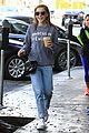 kiernan shipka iced coffee beverly hills 06