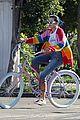 bella thorne color bike ride rainbow 05