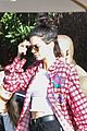kendall jenner is sassy while posing with hamburger 01