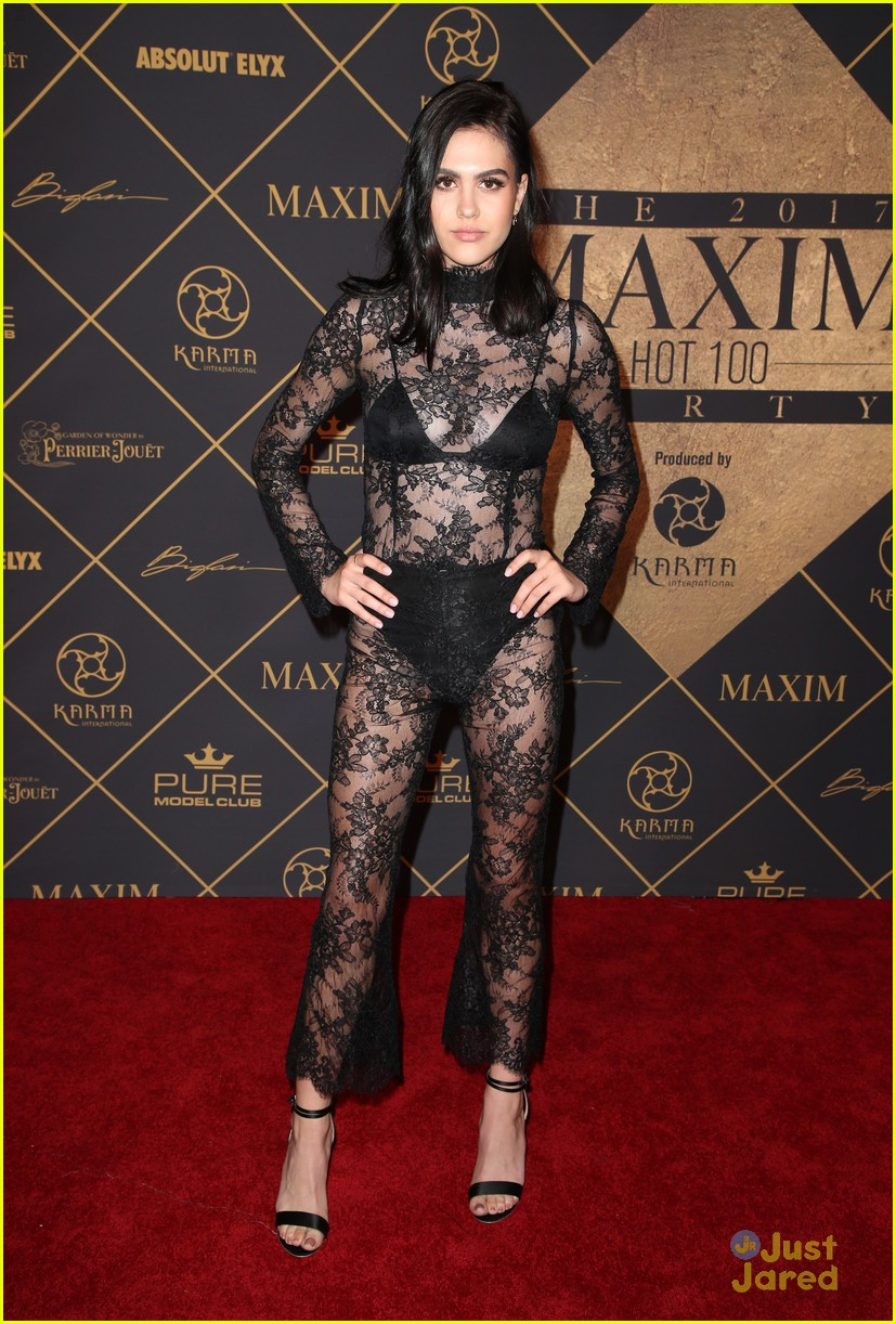 Full Sized Photo Of Peyton List Hamlins Baldwins Maxim Hot Party 10 Peyton List Sparkles At Maxim S Hot 100 Party Just Jared Jr