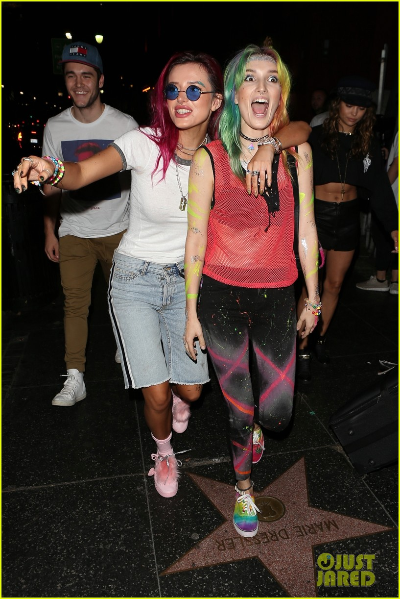 bellathorne and sister dani get colorful at avalon nightclub 01
