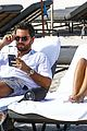 sofia richie scott disick lounge poolside in miami 01