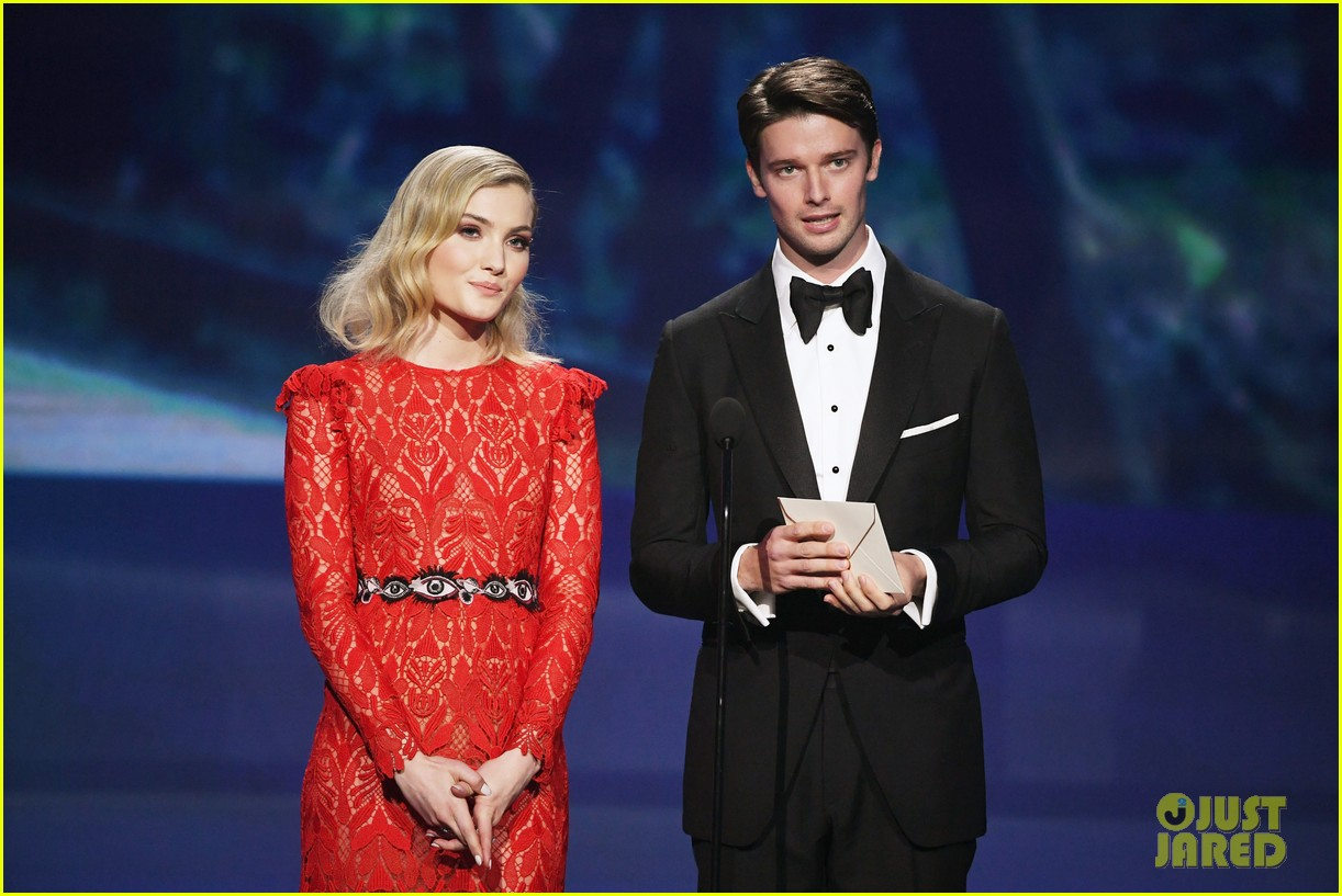 skyler samuels patrick schwarzenegger present together at critics choice awards 2018 02