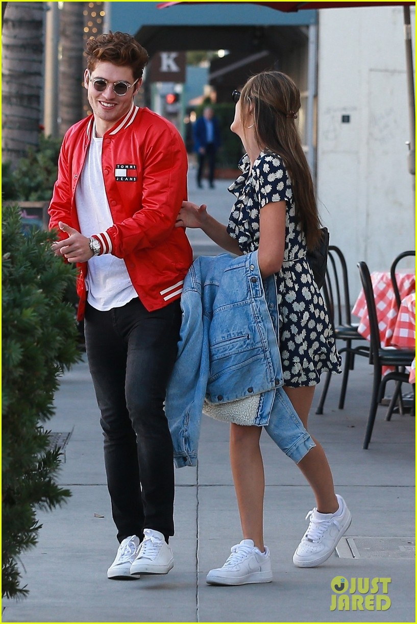 gregg sulkin hangs out with sistine stallone in beverly hills 01