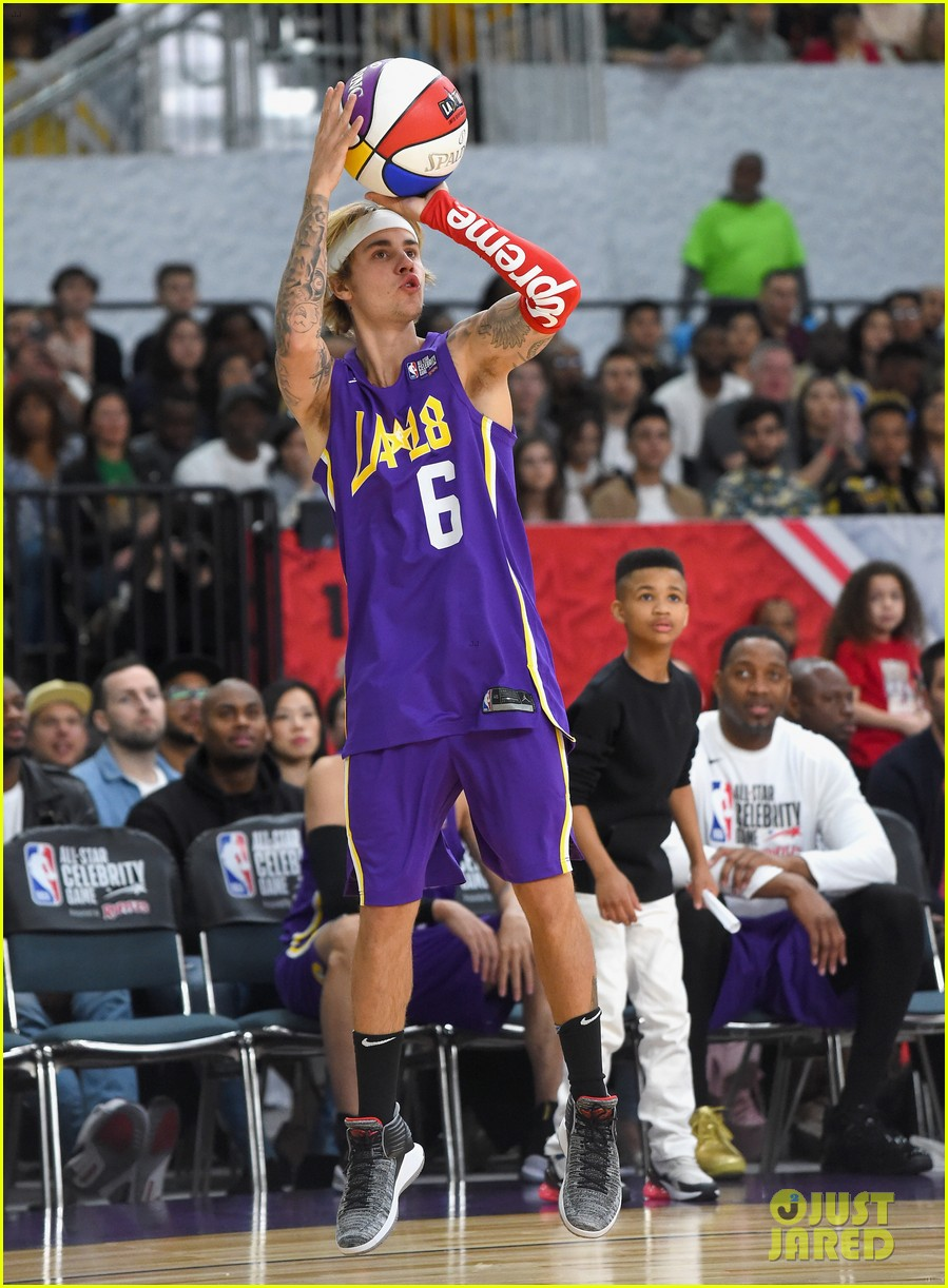 Full Sized Photo Of Justin Bieber Nba All Star Celebrity